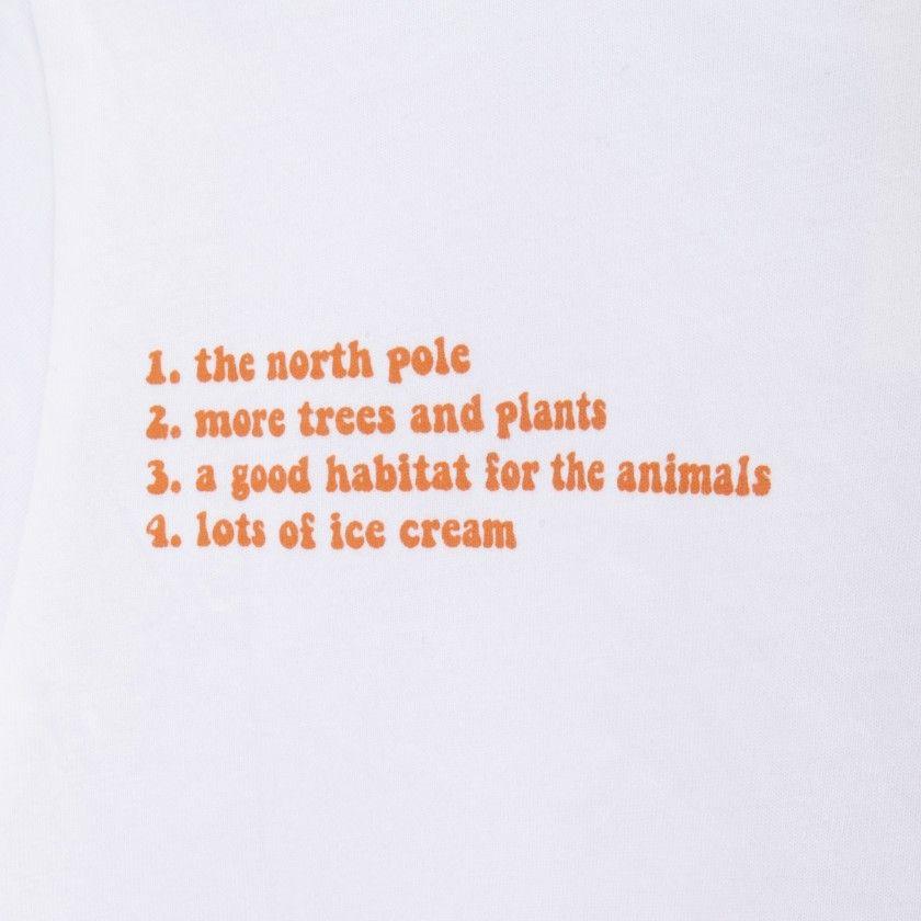 Boy short sleeve t-shirt organic cotton Gráfico da paz