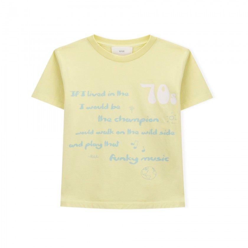T-shirt manga curta menino algodão Viver nos anos 70