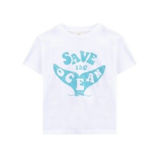 Boy short sleeve t-shirt organic cotton Save the ocean