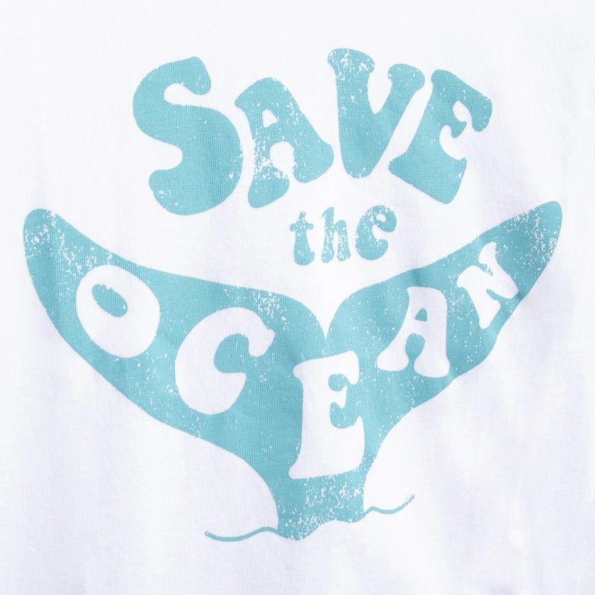 Boy short sleeve t-shirt organic cotton Save the ocean