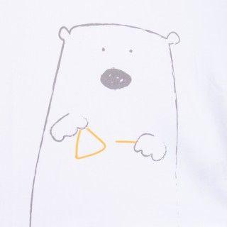 T-shirt manga curta bebé algodão orgânico Urso polar
