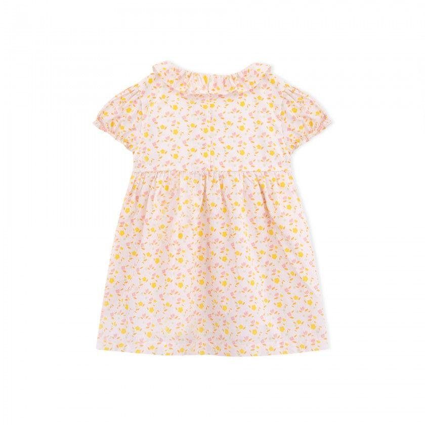 Vestido bebé algodão orgânico Flower Power