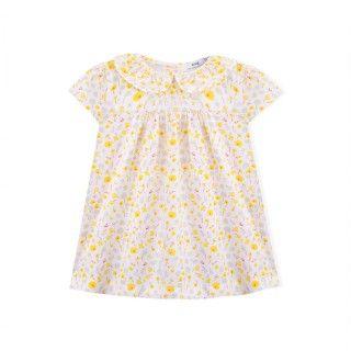 Baby dress organic cotton Groovy Flowers