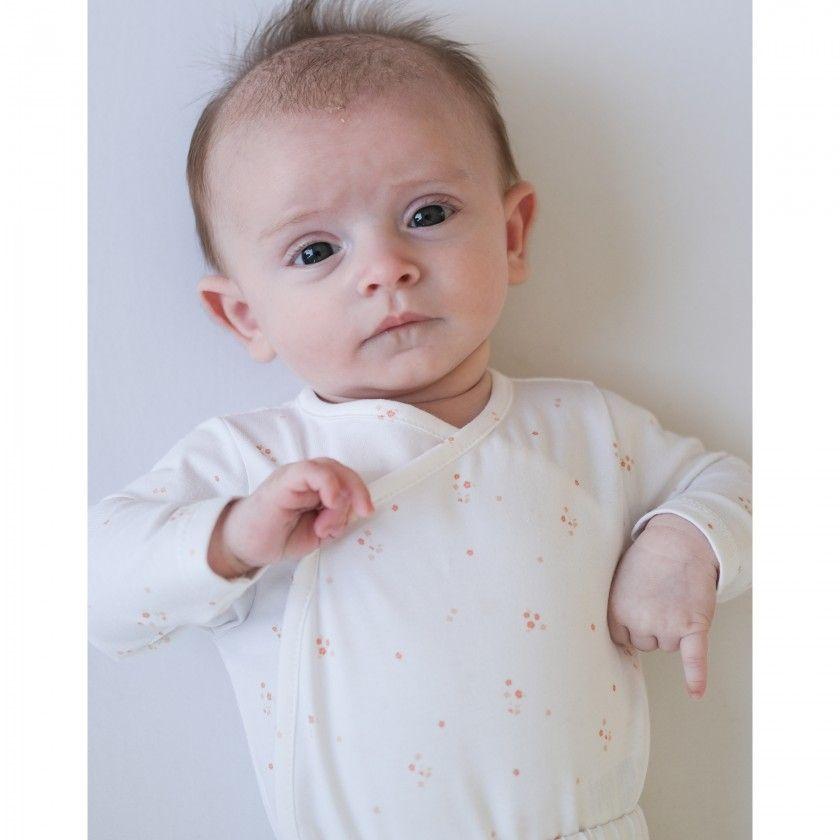 Body manga comprida recém-nascido Alma