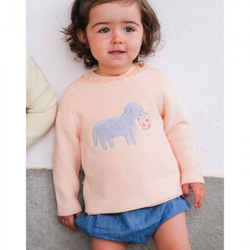 Camisola bebé tricot Puppy