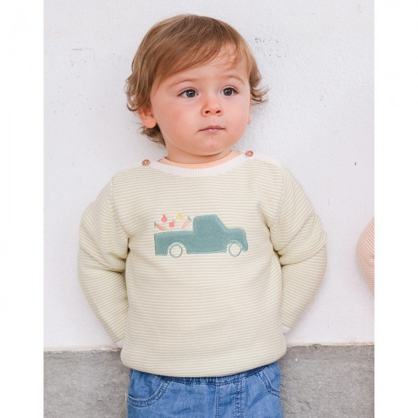 Camisola bebé tricot Truck