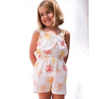 Girl jumpsuit cotton Oranges