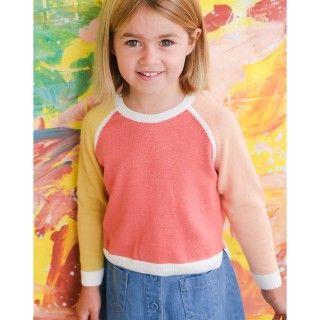 Camisola menina tricot Color Block