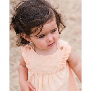 Baby pinafore dress organic cotton Amber