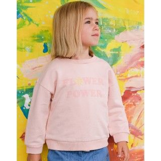 Girl sweatshirt organic cotton Flower Power