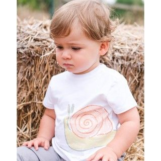 Baby short sleeve t-shirt organic cotton Caracol radical