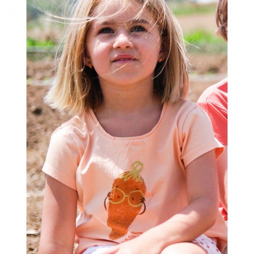 Girl short sleeve t-shirt organic cotton Mrs. Carrott