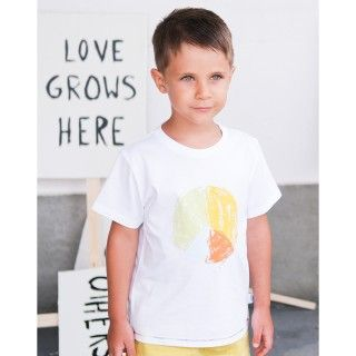 Boy short sleeve t-shirt organic cotton Gráfico da paz