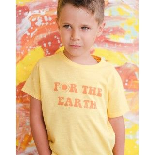 Boy short sleeve t-shirt organic cotton For the earth