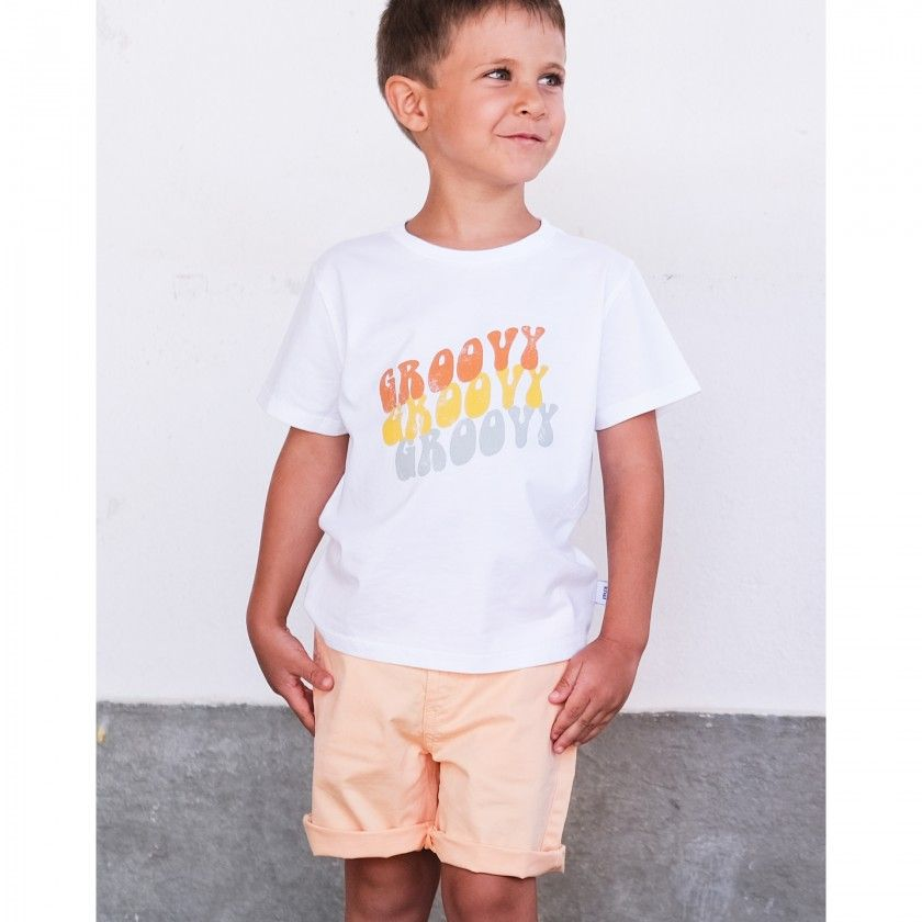Boy short sleeve t-shirt organic cotton Groovy