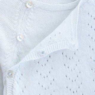 Camisola recém-nascido tricot Ajours