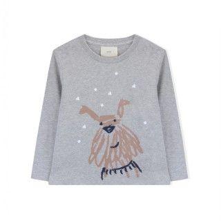 T-shirt manga comprida menina algodão orgânico Chief