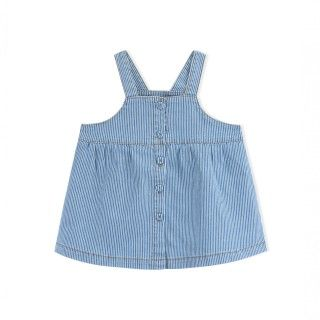 Baby pinafore dress denim Tillie
