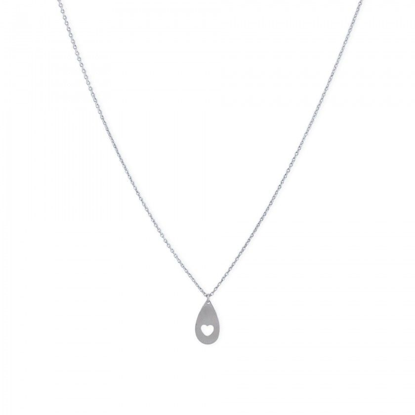 Silver protection heart necklace