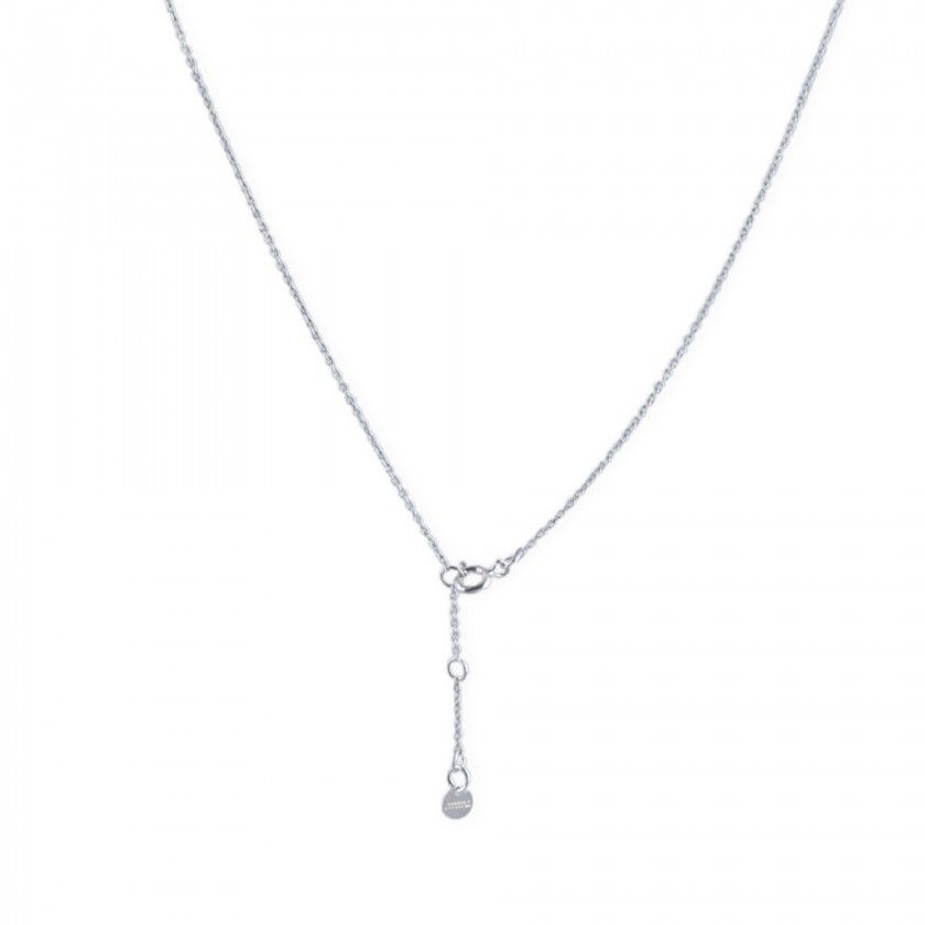 Silver protection cross necklace