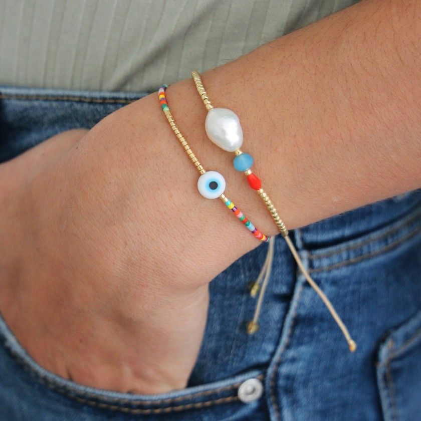 Bracelet beads and pearl