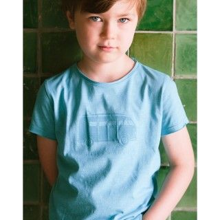 Boy short sleeve t-shirt organic cotton Pão-de-forma