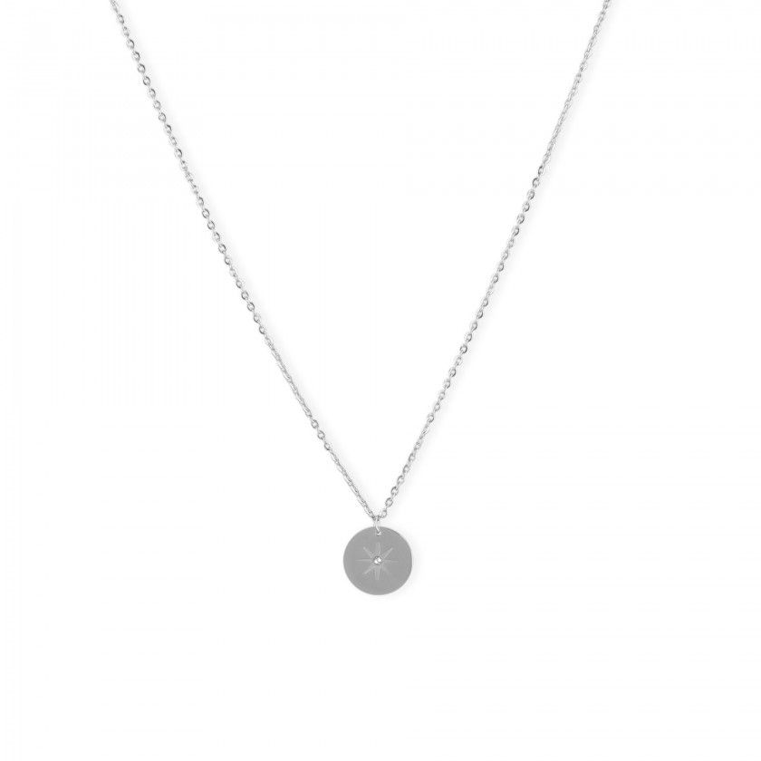 Eight star steel necklace