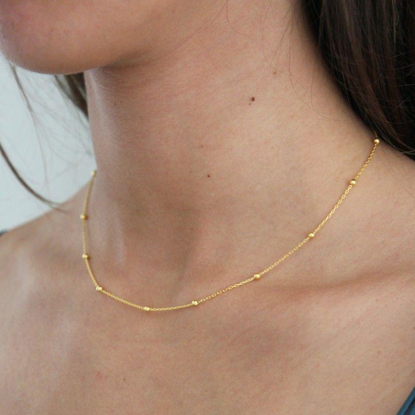 Silver polka dot necklace