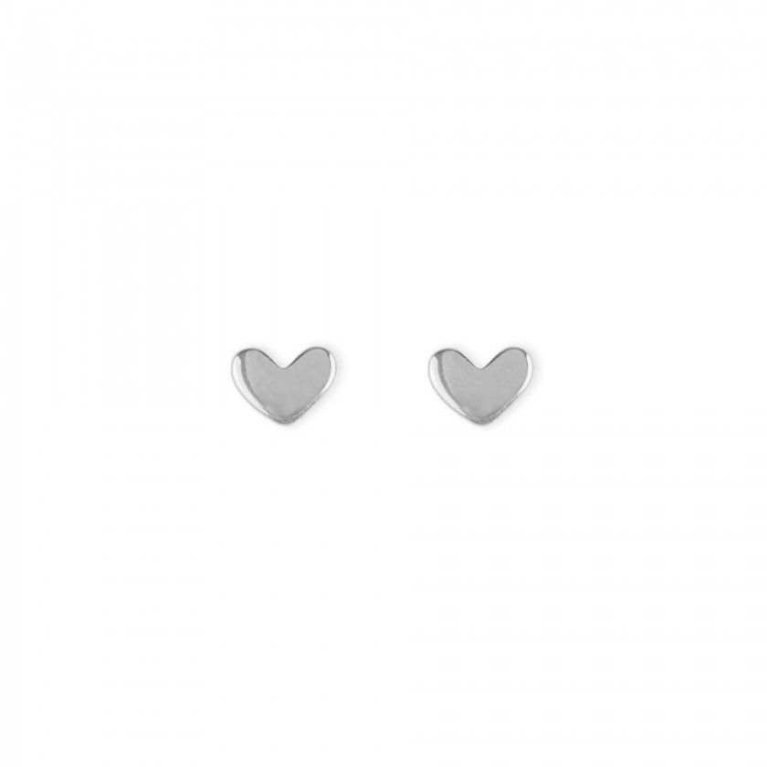 Brincos prata coração