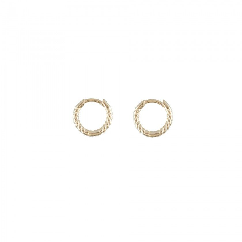 Silver interlaced earrings