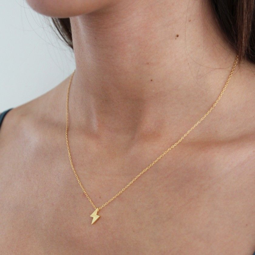 Silver ray necklace