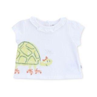 T-shirt manga curta bebé algodão orgânico Tartaruga radical