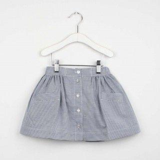 Stripes elastic waist skirt