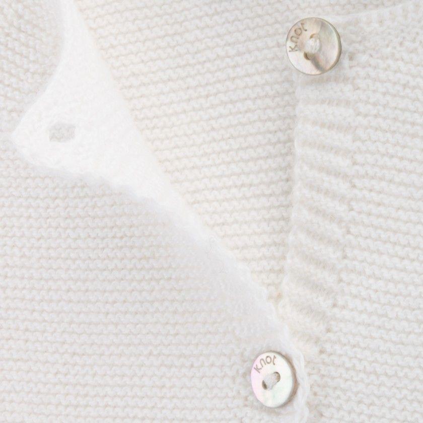 Casaco recém-nascido tricot Lane