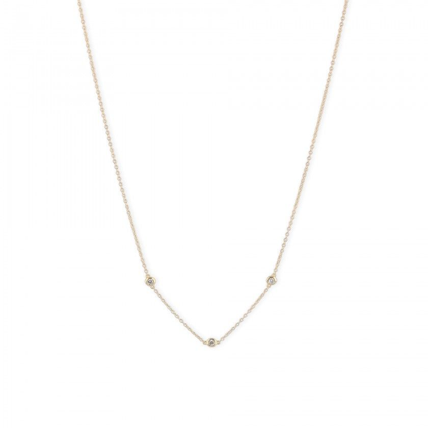 Silver shiny beads necklace