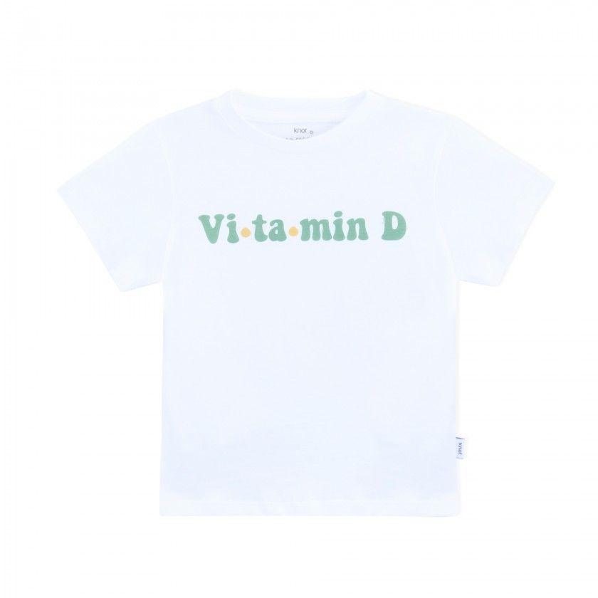 Boy short sleeve t-shirt cotton Vitamina D