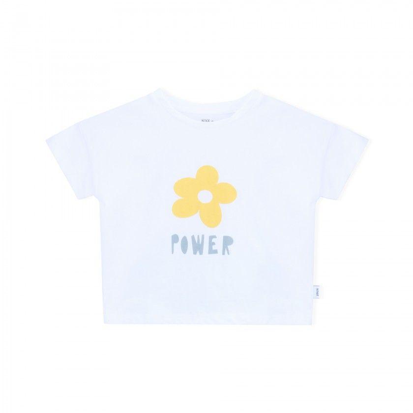 Girl short sleeve t-shirt cotton Power