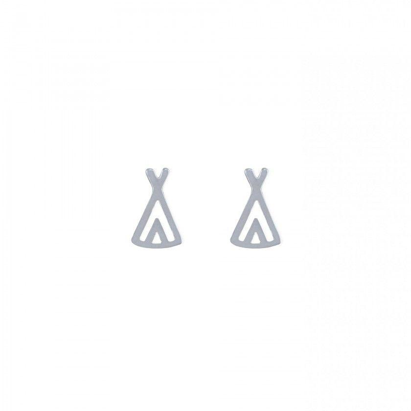 Earrings tendas shinny silver