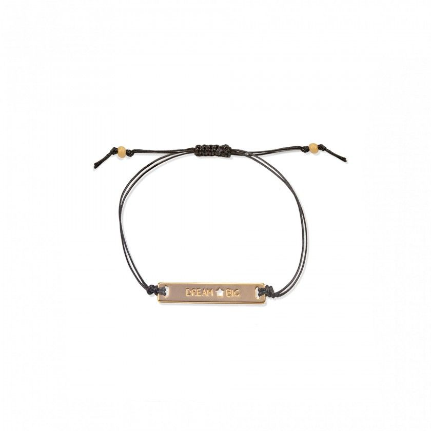 Cord bracelet with flat iron