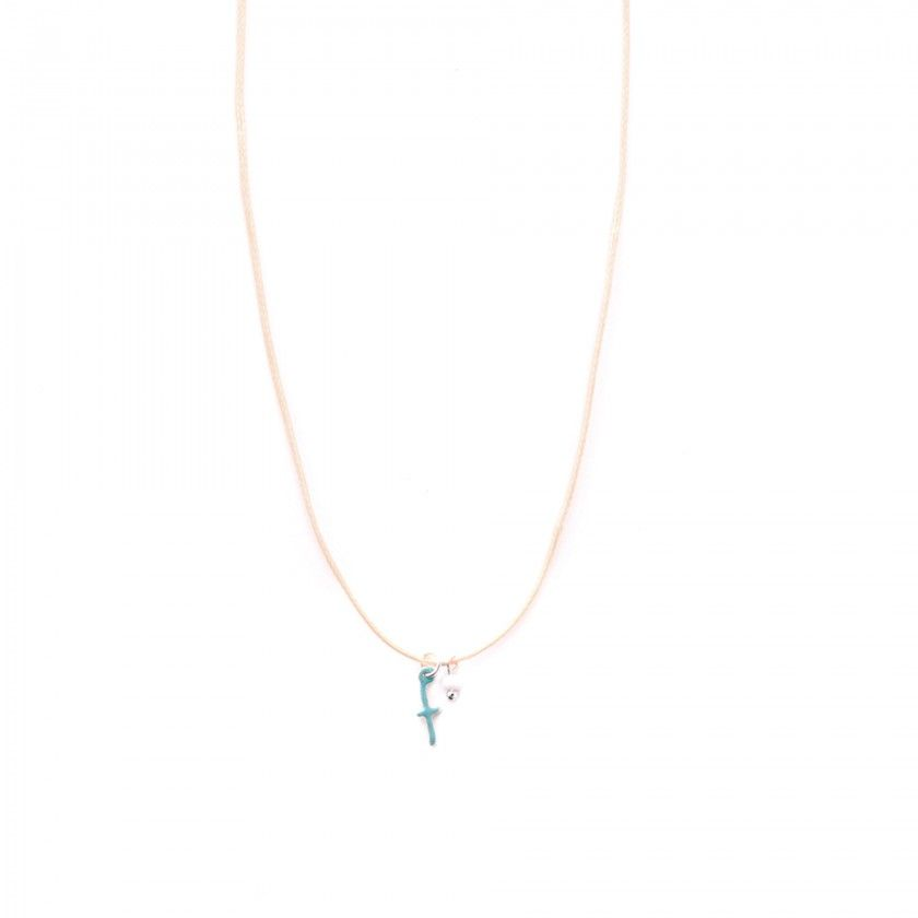 Letter cord necklace - f