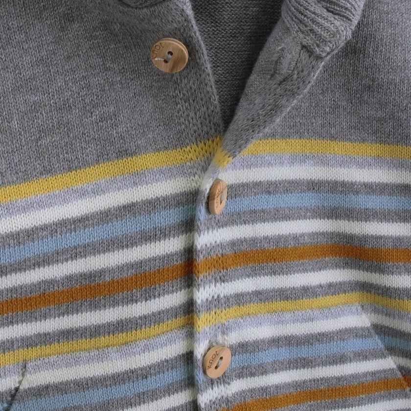 Baby coat knitted Sunrise