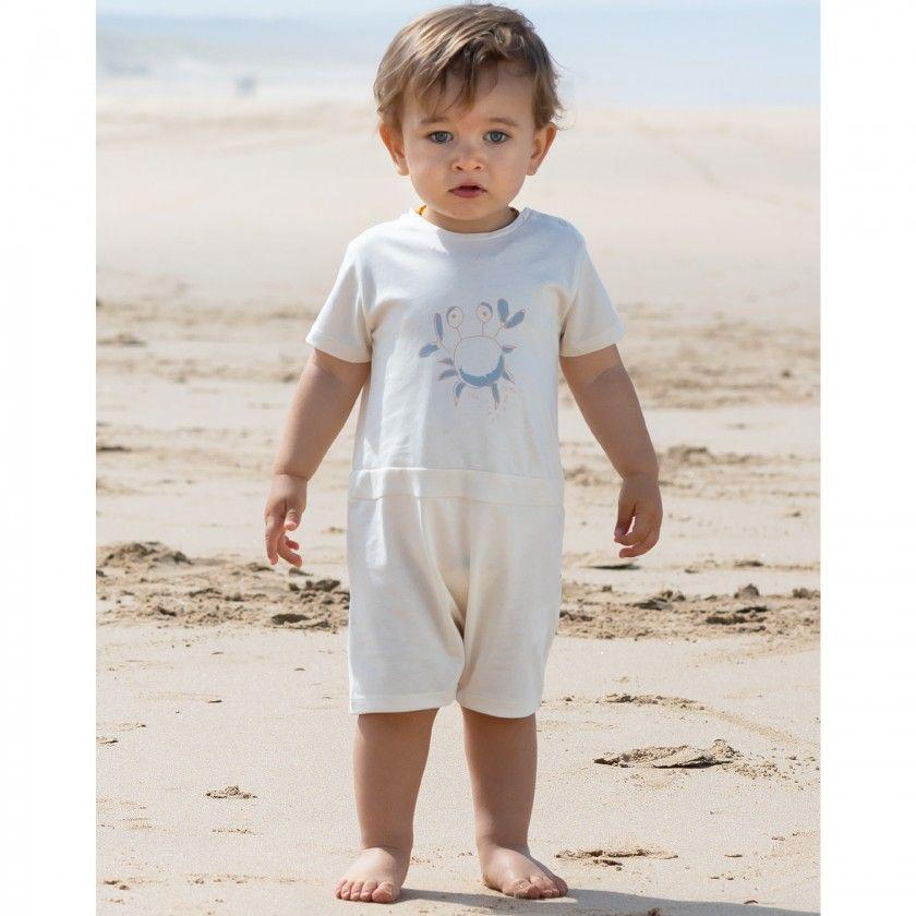 Barboteuse bebé algodão Caranguejo