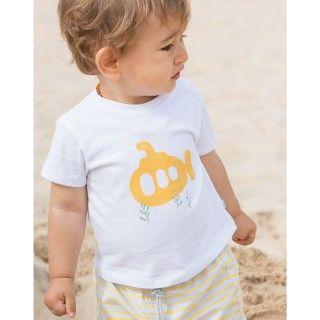 T-shirt manga curta bebé algodão Primrose