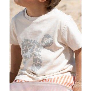 T-shirt manga curta menino algodão Turtle