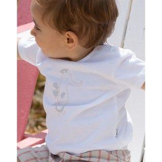 T-shirt manga curta bebé algodão Cavalo marinho