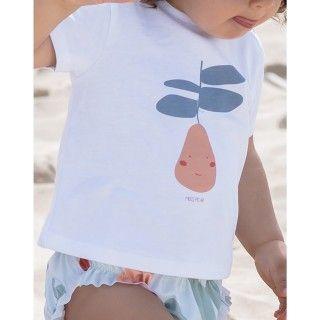 T-shirt manga curta bebé algodão Salada
