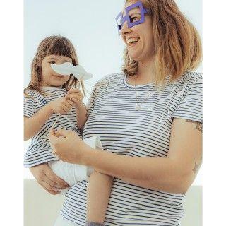 T-shirt Mãe manga curta algodão orgânico Serenity