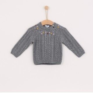 Sweater girl wool Flores