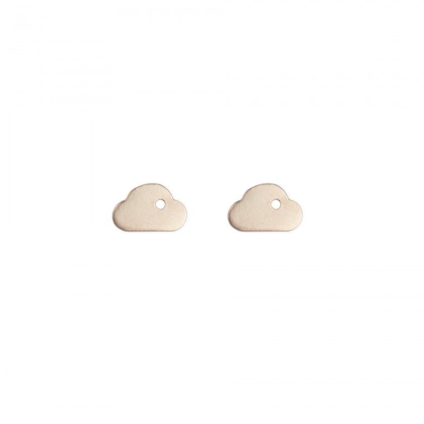 Brincos dourados nuvem