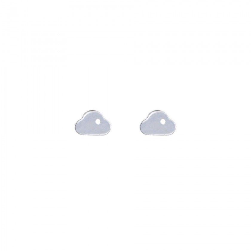 Brincos prateados nuvem